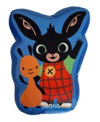 """SETINO 3D poduszka dla dzieci """"Bing"""" - 37x27 cm - niebieski"""