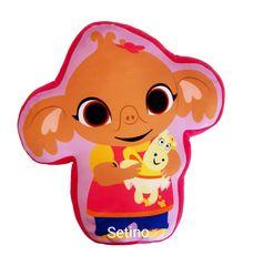 """SETINO 3D poduszka dla dzieci -""""Sula"""" - 38x35cm - różowy"""