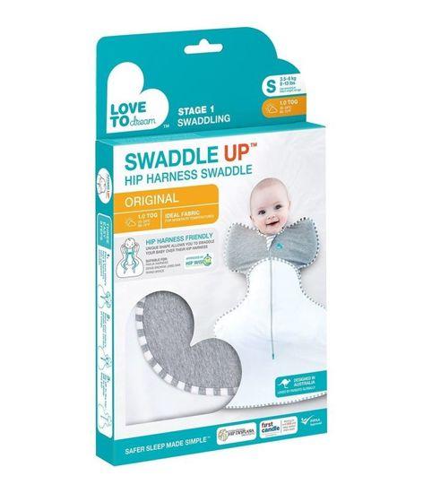 LOVE TO DREAM Love To Dream Wrapper za uporabo z ledveno oporo, siv, velikost S, 0-3m, 3-6kg