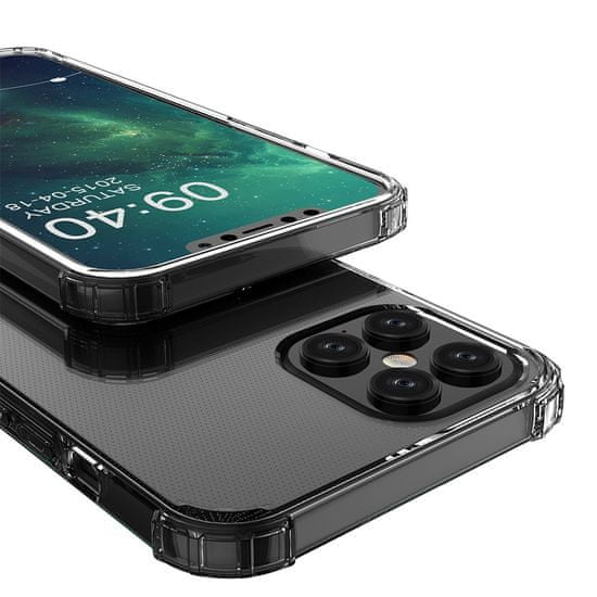 MG Anti Shock Military silikonový kryt iPhone 12 Pro Max, průsvitný