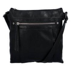 ERICK STYLE Praktická dámská koženková kabelka Sybilka, černá