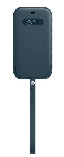 Apple kožený návlek s MagSafe pro iPhone 12mini, modrá MHMQ3ZM/A