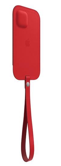Apple kožený návlek s MagSafe pro iPhone 12mini, červená MHMR3ZM/A