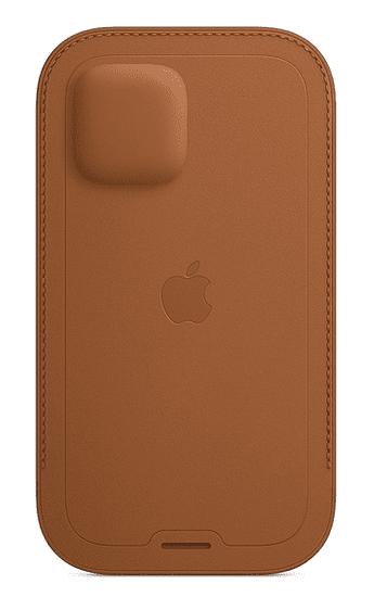 Apple kožený návlek s MagSafe pro iPhone 12 / 12 Pro, hnědý MHYC3ZM/A