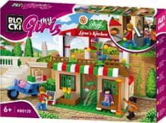 Blocki Blocki MyGirls stavebnica Pizzerie u Lary kompatibilná 263 dielov