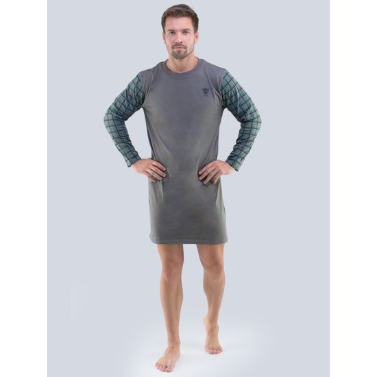 Gino Pánská noční košile šedá (79092)