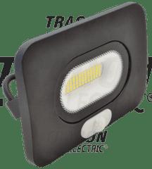 Tracon Electric Led reflektor venkovní 30W s pohybovým čidlem RSMDLM30 černý 4000K Tracon electric
