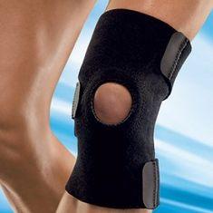 bandaža za koleno, črna, snemljiva