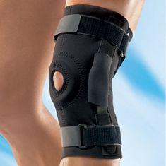 Futuro opornica za koleno, s tečaji, črna