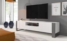 ATAN Televizní stolek NUKI bílá/grafit