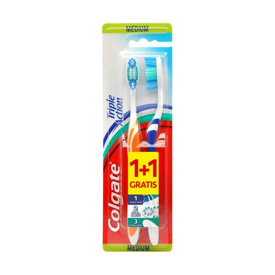 Colgate Triple Action četkica za zube, medium, 1+1
