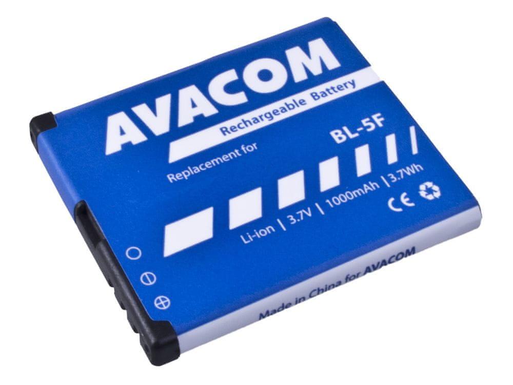 Avacom baterie do mobilu Nokia N95, E65, Li-Ion 3,6V 1000mAh (náhrada BL-5F) GSNO-BL5F-S1000A
