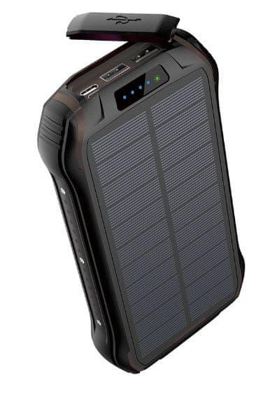 Viking Solární outdoorová power banka S26W, 26 800 mAh, bezdrátové nabíjení VS26WBLACK, černá
