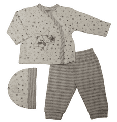 Just Too Cute Komplet kojenecký hvězdičky+proužky bílá 56
