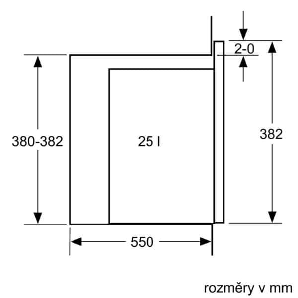 Bosch vestavná mikrovlnná trouba BFL550MS0