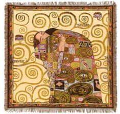 Metrax Craye Belgium  Ubrus - gobelín Očekávaní Gustav Klimt