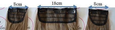 Vipbejba Sintetični clip-on lasni podaljški na 3 zavese, skodrani, kostanjevo rjavi 30T33