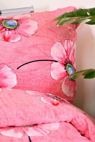 Aaryans Povlečení mikroplyš Flower růžové 140x200/70x90