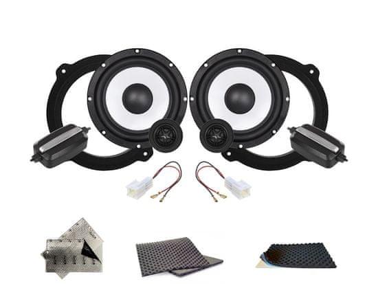 Crunch SET - přední reproduktory do Nissan Xtrail (2005-) - Crunch