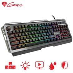 Genesis Rhod 420 RGB gaming tipkovnica, Anti-Ghosting