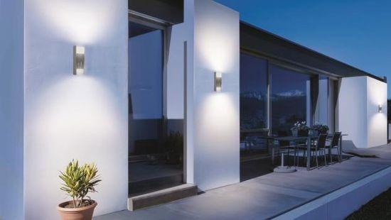 STEINEL Zunanja svetilka z senzorjem L 920 led srebrna