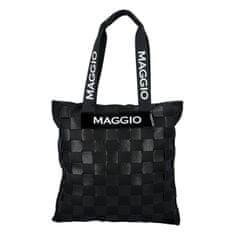 Maggio Štýlová a hravá dámska koženková kabelka Francesca Maggio, čierna