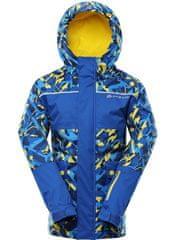 ALPINE PRO detská lyžiarska bunda INTKO 2 92 - 98 modrá