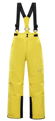 ALPINE PRO Aniko 4 otroške smučarske hlače, rumene, 104–110