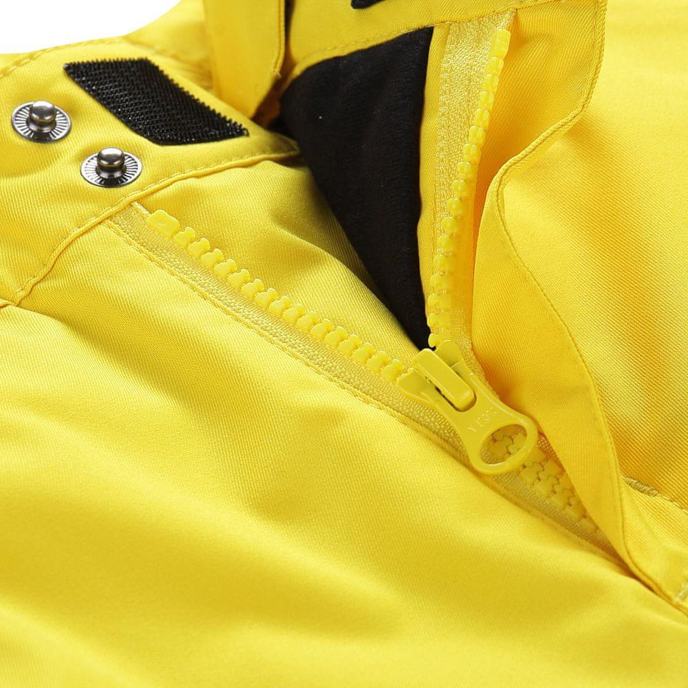 ALPINE PRO dětské lyžařské kalhoty ANIKO 4 128 - 134 žlutá
