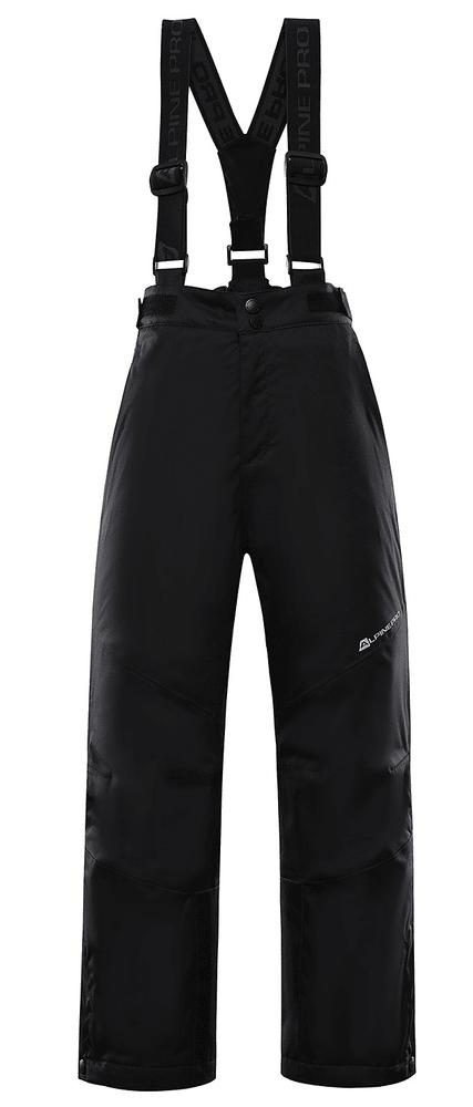 ALPINE PRO dětské lyžařské kalhoty ANIKO 4 128 - 134 černá