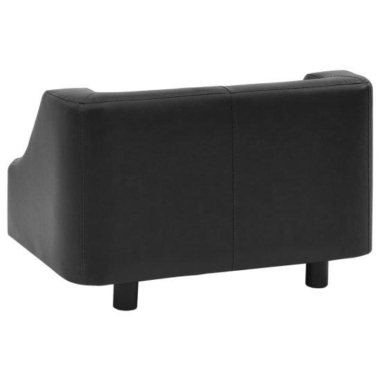 shumee Pasji kavč črn 67x52x40 cm umetno usnje
