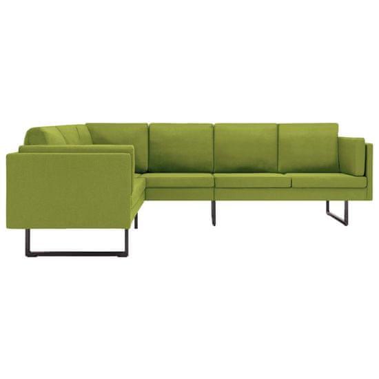 shumee Kotni kavč zelen, oblazinjen v tkanino