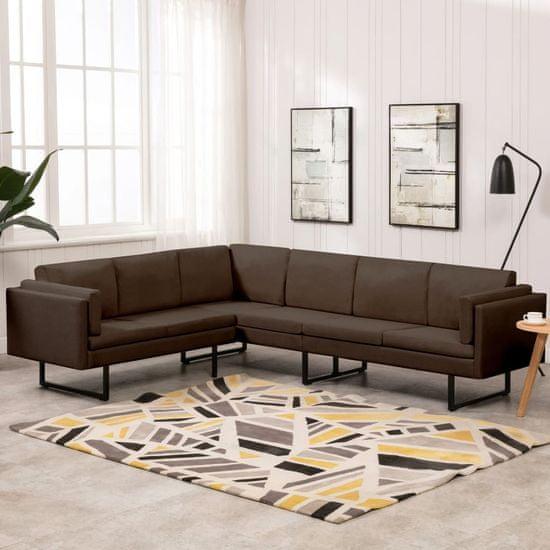 shumee Kotni kavč iz rjavega blaga