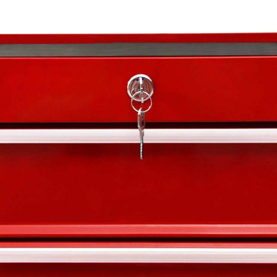 shumee Voziček za orodje s 15 predali jeklen rdeč