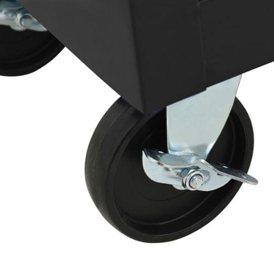 shumee Voziček za orodje z 10 predali jeklen črn