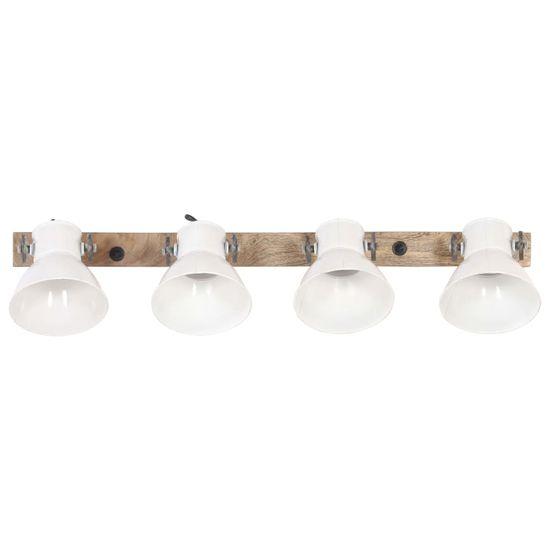 shumee Industrialna lampa ścienna, biała, 90x25 cm, E27