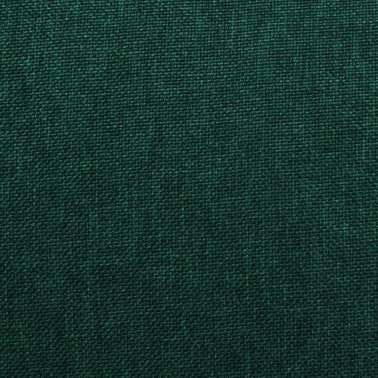 Greatstore Naslanjač iz temno zelenega blaga