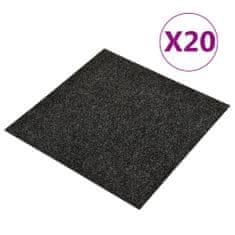 shumee Podłogowe płytki dywanowe, 20 szt., 5 m², czarne