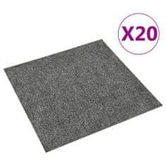 shumee Podłogowe płytki dywanowe, 20 szt., 5 m², ciemnoszare