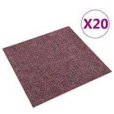 shumee Podłogowe płytki dywanowe, 20 szt., 5 m², ciemnoczerwone