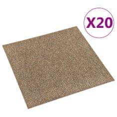 shumee Podłogowe płytki dywanowe, 20 szt., 5 m², beżowe
