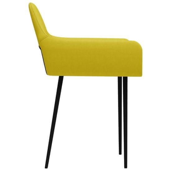 shumee Jedilni stoli 6 kosov rumeno blago