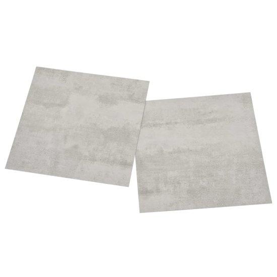 shumee Samolepilne talne plošče 55 kosov PVC 5,11 m² svetlo sive