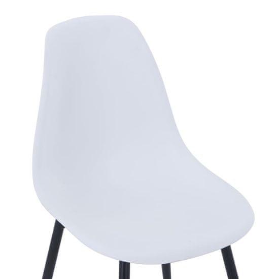 shumee Jedilni stoli 4 kosi bele barve PP