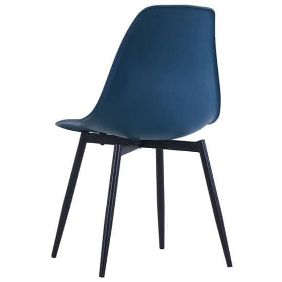 shumee Jedilni stoli 6 kosov turkizne barve PP
