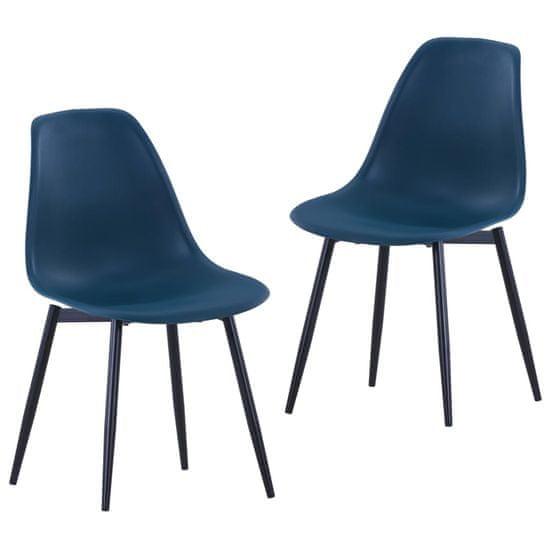 shumee Jedilni stoli 2 kosa turkizni PP
