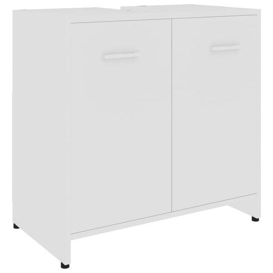 slomart Kopalniška omarica bela 60x33x58 cm iverna plošča