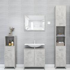 shumee Kopalniško pohištvo 4 kosi betonsko sive barve iverna plošča