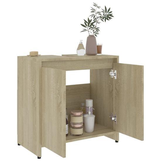 shumee sonoma-tölgy színű forgácslap fürdőszobaszekrény 60x33x58 cm