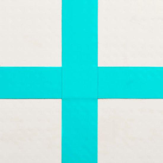 shumee Napihljiva gimnastična podloga s tlačilko 60x100x10 cm zelena
